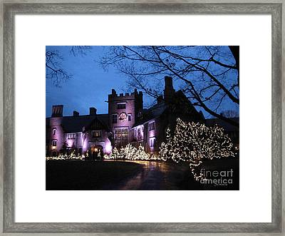 Stan Hywet Hall And Gardens Christmas  Framed Print by Joan  Minchak