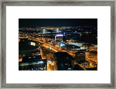Stan Musial Bridge In St Louis Mo Dsc03215 Framed Print by Greg Kluempers