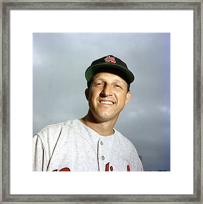 Stan Musial Close Up Framed Print