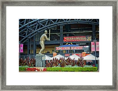 Stan Musial Statue At Busch Stadium St Louis Mo Framed Print