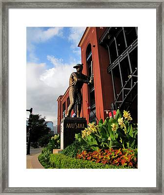 Framed Print featuring the photograph Stan Musial Statue by John Freidenberg