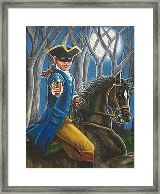 Stand And Deliver Framed Print