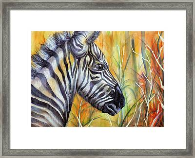 Stand In Courage Framed Print