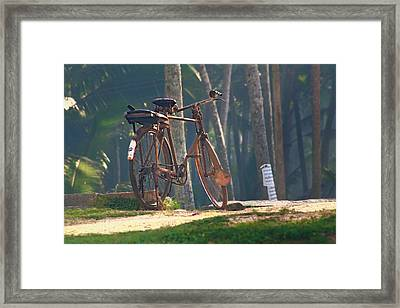 Stand In The Place That You Are.. Framed Print by A Rey