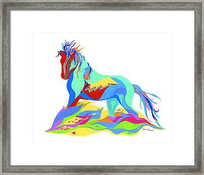 Stand Framed Print by Lula Adams