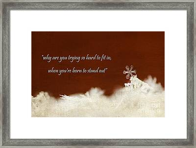 Stand Out Framed Print by Darren Fisher