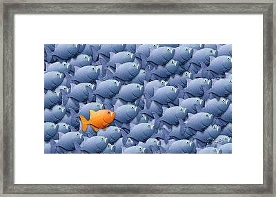 Stand Out From The Crowd Framed Print by Stephen Kinsey
