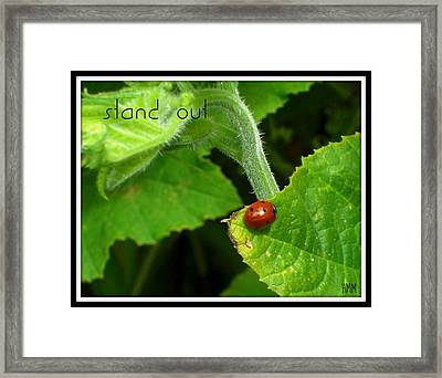 Framed Print featuring the photograph Stand Out by Heidi Manly