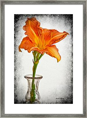 Stand Out Lily Framed Print