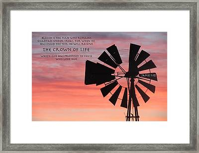 Stand Strong Amidst Struggle Framed Print by David  Norman