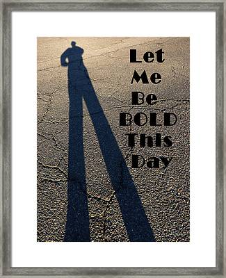 Stand Tall Framed Print by Lin Haring