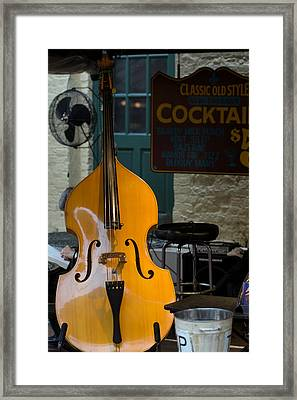 Stand Up Bass Framed Print