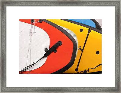 Stand Up Boards Framed Print by Art Block Collections