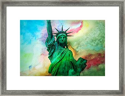 Stand Up For Your Dreams Framed Print by Az Jackson