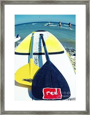 Stand Up Paddle Board Framed Print by Stelios Kleanthous