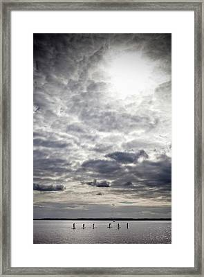 Stand-up Paddle Boarders On Strangford Framed Print