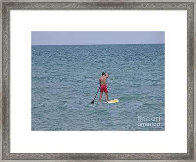 Stand Up Paddleboarder Framed Print by Ben Schumin