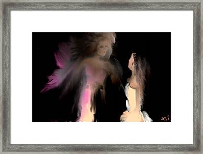 Framed Print featuring the digital art Stand Up Straight by Jessica Wright