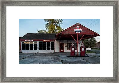 Standard Gas Station Framed Print