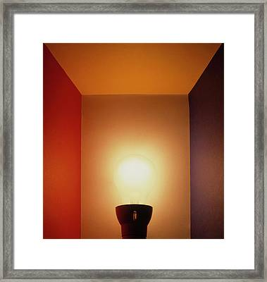 Standard Light Bulb Framed Print