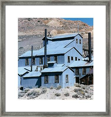 Standard Mill At Bodie Framed Print