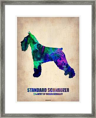 Standard Schnauzer Poster Framed Print by Naxart Studio