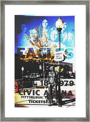 Standin On The Corner Framed Print
