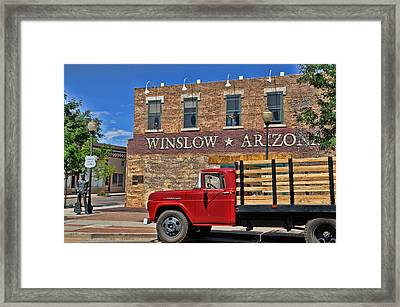 Standin' On The Corner Framed Print