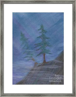 Standing Alone Framed Print by Robert Meszaros