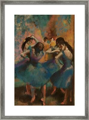 Standing Ballerinas Framed Print