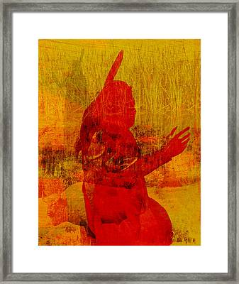 Standing Bear Park Abstract Collage Framed Print by Ann Powell