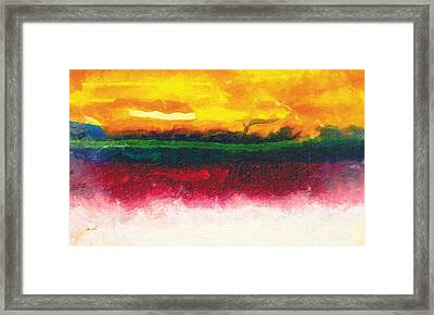 Standing Before The Energy Of The Sun Framed Print