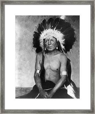 Standing Buffalo Framed Print by W Herbert Dunton