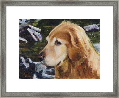Standing By The River Framed Print by Billie Colson