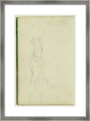 Standing Cavalier Théodore Géricault, French Framed Print