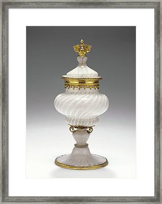 Standing Covered Filigrana Cup Unknown Venice Framed Print by Litz Collection