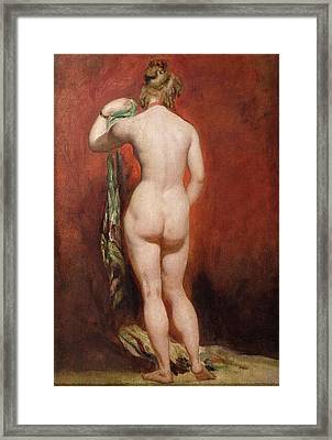 Standing Female Nude Framed Print by William Etty