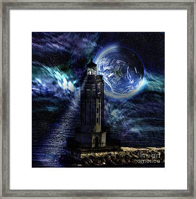 Framed Print featuring the digital art Standing Guard by Shirley Mangini