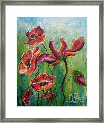 Standing High Framed Print by Jolanta Anna Karolska