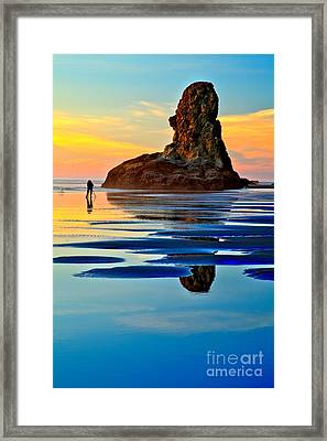 Standing In A Sea Of Blue Framed Print by Adam Jewell