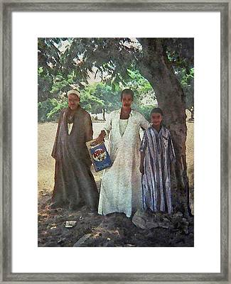 Standing In Shade Framed Print