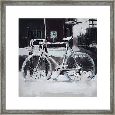 Standing In The Cold Framed Print by Cjeremyprice