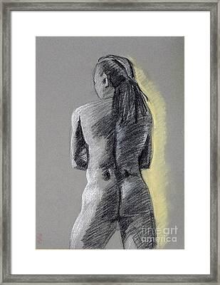 Standing Male Back Framed Print