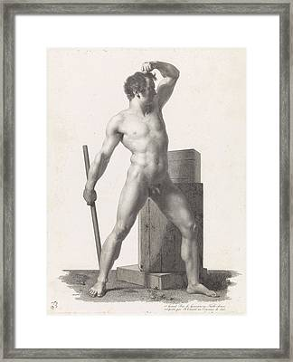 Standing Male Nude, Benoit Taurel Framed Print by Benoit Taurel