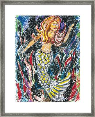 Standing Mermaid Framed Print by Mary Hatch