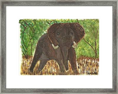 Framed Print featuring the painting Standing My Ground by Tracey Williams