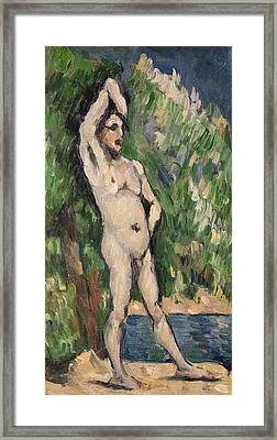Standing Nude Framed Print by Paul Cezanne