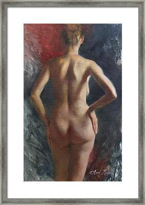 Standing Nude II Framed Print by Anna Rose Bain