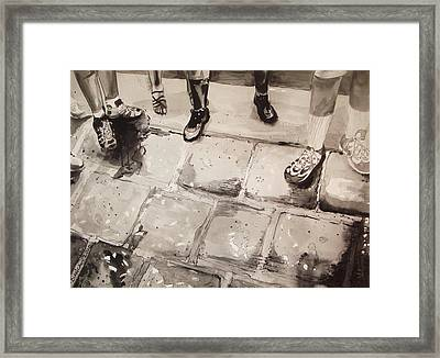 Standing On Ballast					 Framed Print by Bianca Romani