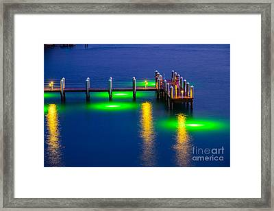 Standing On The Dock Of The Bay Framed Print